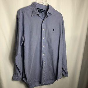Polo Ralph Lauren Black Blue Gingham Shirt 0832